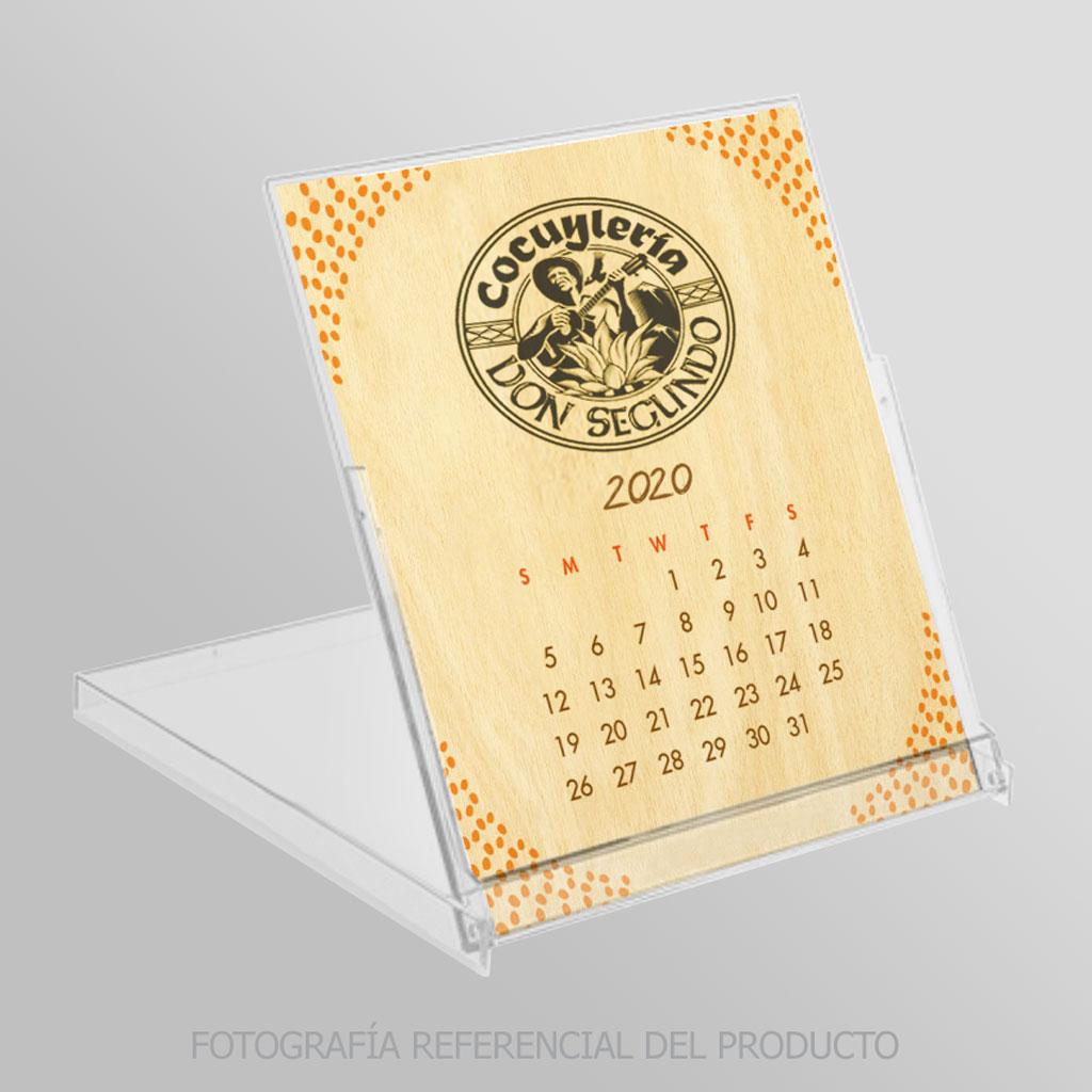 Calendarios con Cajita Transparente